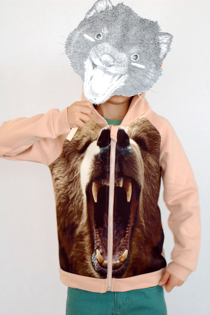 Bear Hoodie with Zipper by Popup Shop