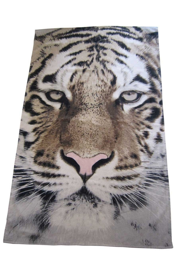 Towel with Tiger Print by Popup Shop