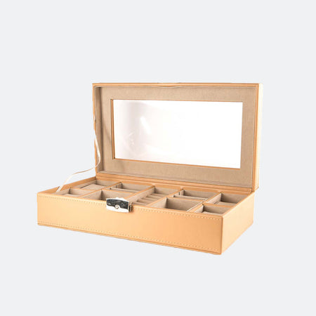 Jewelry and watch organizer with lock