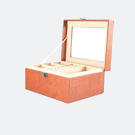 Jewelry box organizer with lock