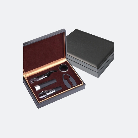 Wine Gift Set Leather Box