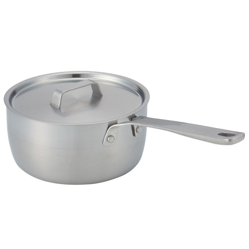 Stainless Steel One Handle Pan With Lid