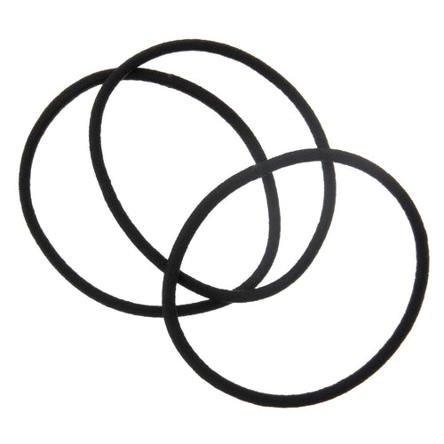 Hair Rubber Ring Thin Black