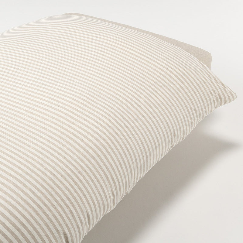 Organic Cotton Jersey Duvet Cover D Beige Border