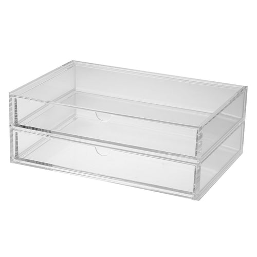 Acrylic Case W/Drawer 2Rows / About 25.5Cm Wide