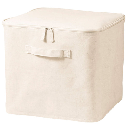 Cotton Linen Polyester Soft Box With Lid / L