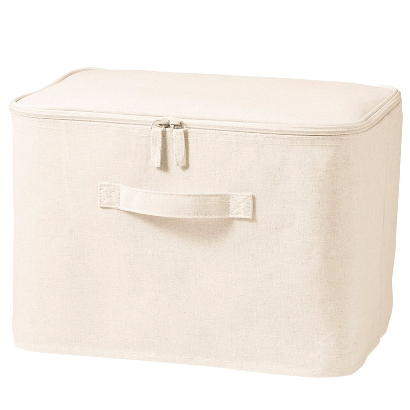 Cotton Linen Polyester Soft Box Rectangle With Lid  / M