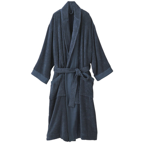 OGC Blend Supple Bathrobe L Navy