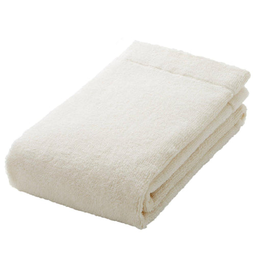 Organic Cotton Blend Thin Face Towel Ecru