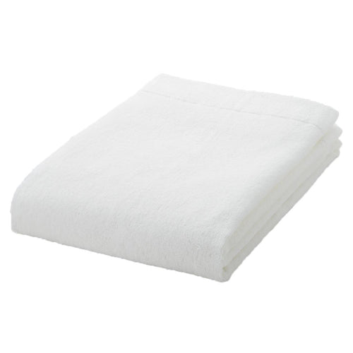 Organic Cotton Blend Thin Small Bath Towel Off White