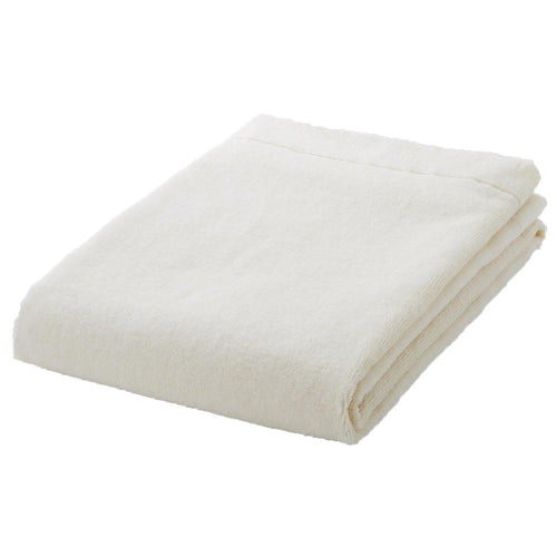 Organic Cotton Blend Thin Small Bath Towel Ecru