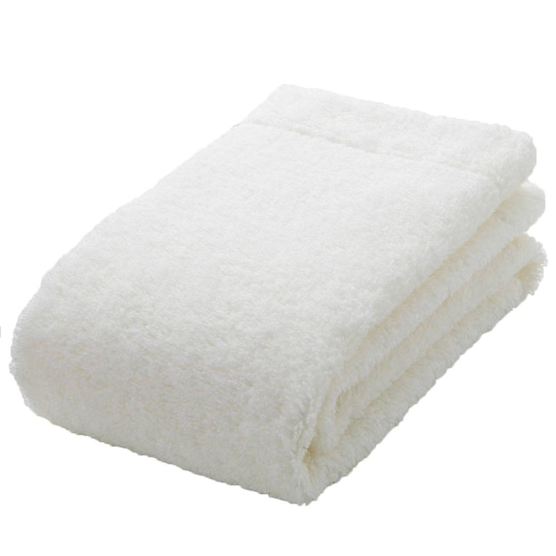 Organic Cotton Blend Medium Thick Face Towel Off White
