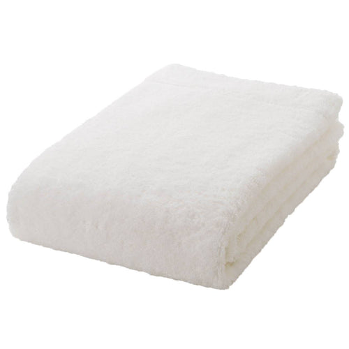 Organic Cotton Blend Medium Thick Small Bath Towel Off White