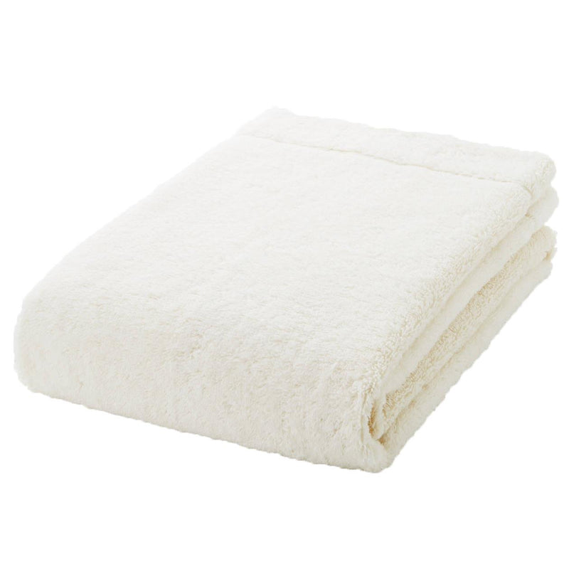 Organic Cotton Blend Medium Thick Small Bath Towel Ecru