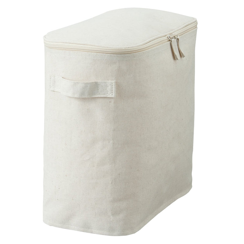 Cotton Linen Polyester Soft Box / Lid Type / L / Half