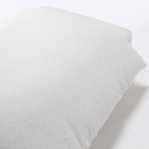 Organic Cotton Jersey Duvet Cover K Light Gray