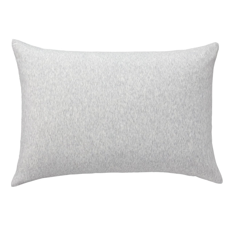 Organic Cotton Jersey Pillow Case Light Grey / 43X63