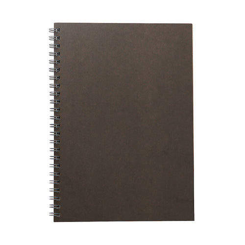 Planting Tree Paper Double Ring Notebook-Dark Grey