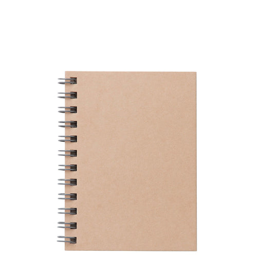 Planting Tree Paper Double Ring Notebook-Beige