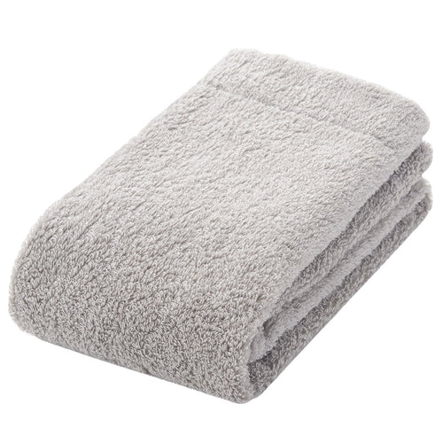 Organic Cotton Blend Medium Thick Face Towel Light Grey