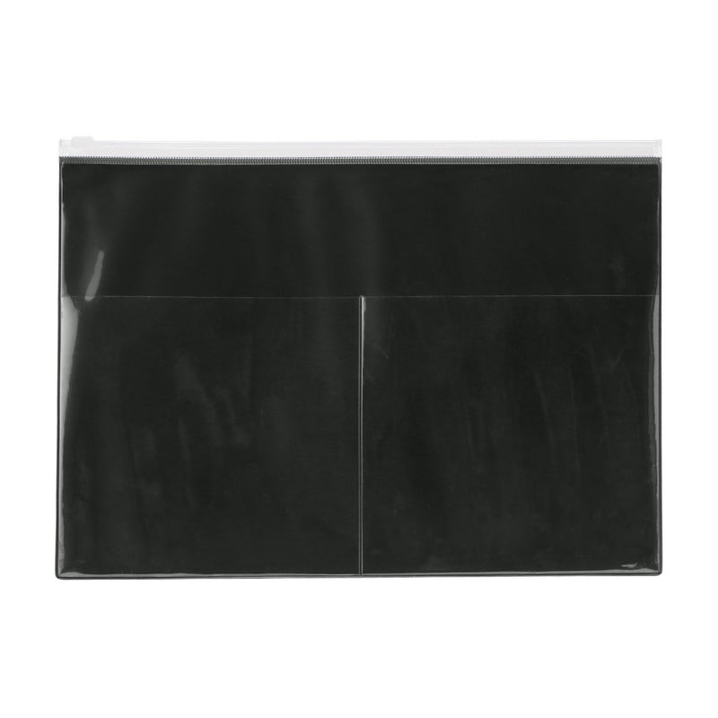 One-Side Translucent Pocket Folder With Ext. Pocket /D. Grey