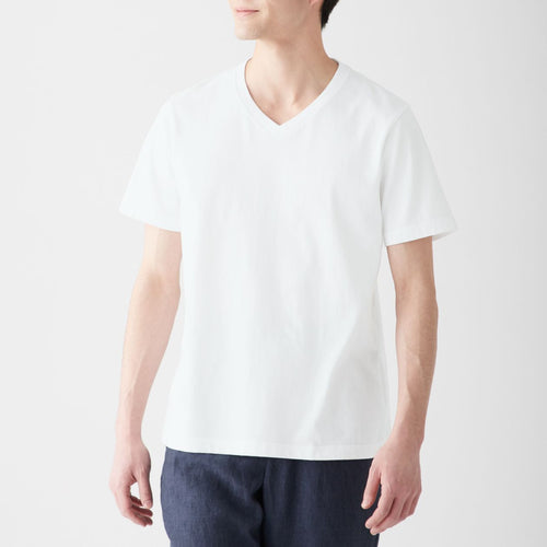 Mens Organic Cotton V Neck S/S T Shirt