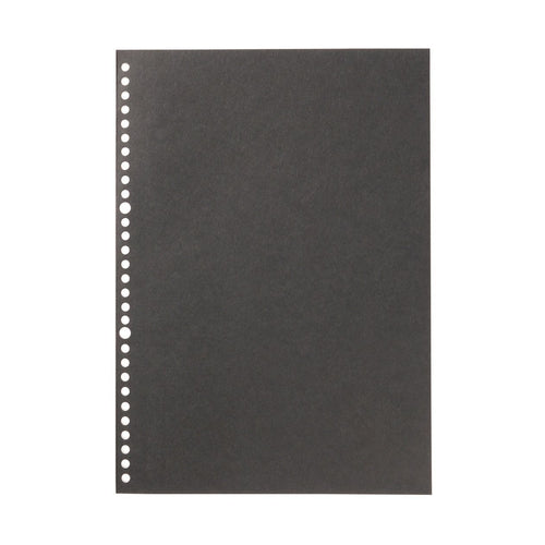 Filler Paper Notebook / Black / A4