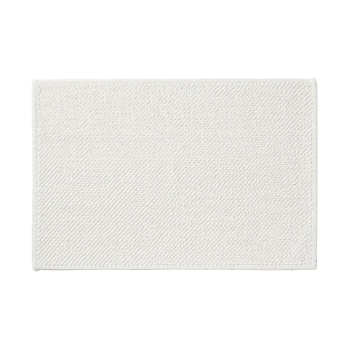 Cotton Chenille Bath Mat L Off White