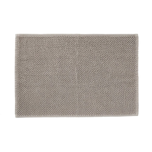 Cotton Chenille Bath Mat S Light Grey
