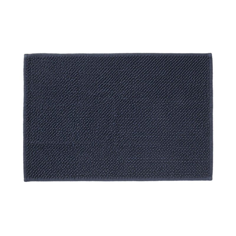 Cotton Chenille Bath Mat S Navy