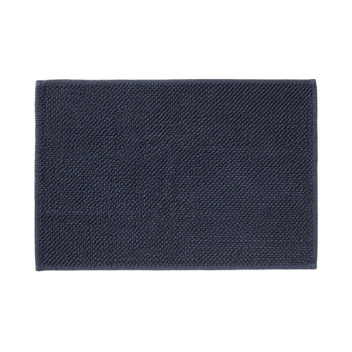 Cotton Chenille Bath Mat L Navy