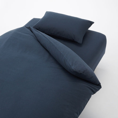 Cotton Plain Weave Cover Set For Bed Q Navy