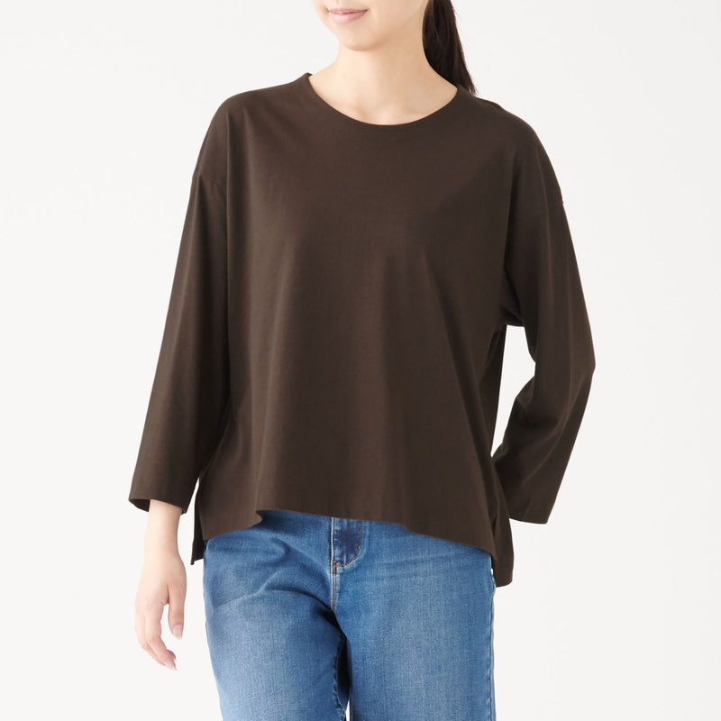Cotton Rayon 3/4 Sleeve Tuck Pull-over
