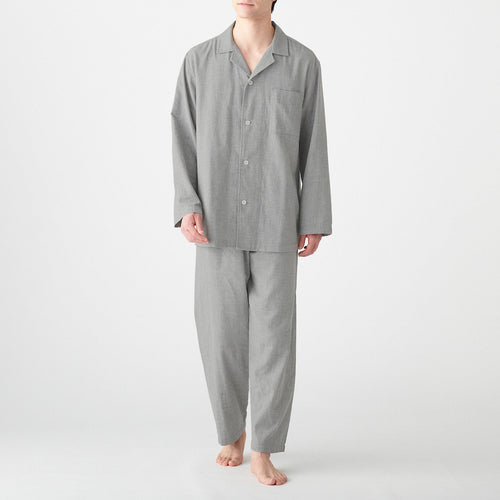 Men'S Side Seamless Double Gauze Pajama