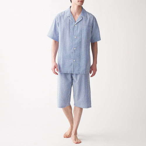 Men's Side Seamless Seersucker S/S Pajama