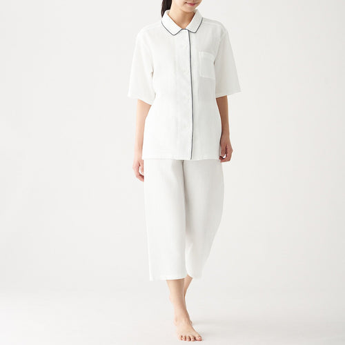 Womens Side Seamless Wooven Waffle S/S Pajama