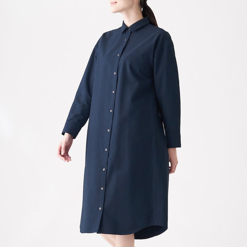 Xinjiang Cotton Washed Oxford Shirt Dress