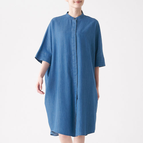 Lyocell Mix Denim Dress