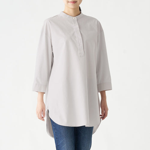 Xinjiang Cotton Jersey Combination Stand Collar Tunic