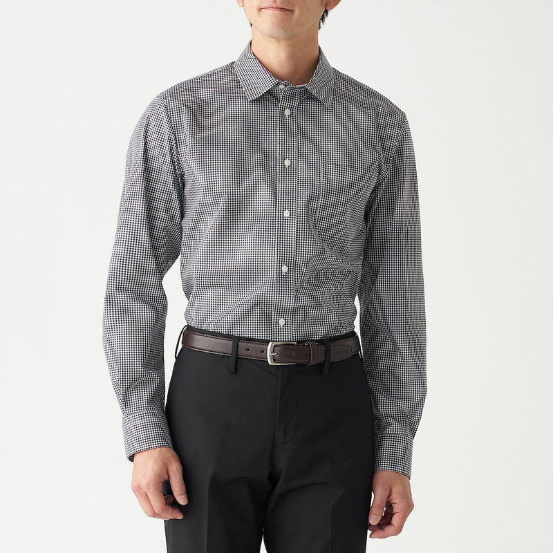Xinjiang Cotton Stretch Permanent Press Broad Check Shirt