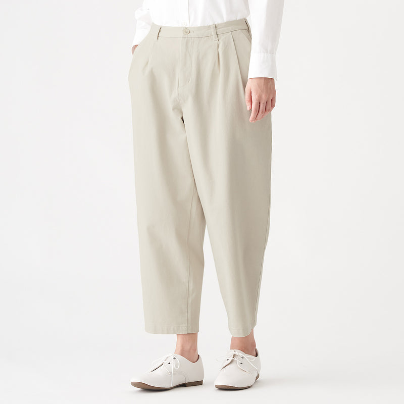 4 Way Stretch Chino Tuck Wide