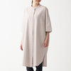 Xinjiang Cotton Oxford 3/4 Sleeve Dress