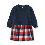 Indian Cotton Flannel Long Sleeve Combination Dress (Baby)