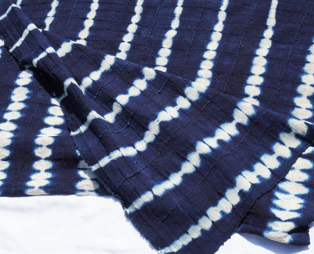 African indigo mud cloth