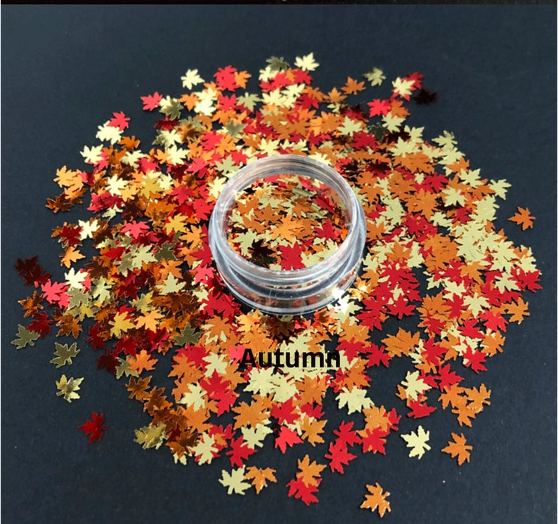 Fall Leaf Chunky Glitter - Autumn
