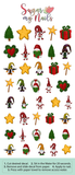 Christmas Gnomes Custom Nail Decals