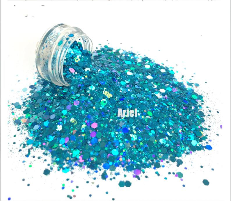 Chunky Glitter for Nails - Ariel