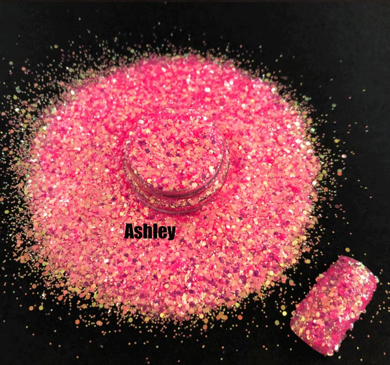 Chunky Glitter for Nails - Ashley