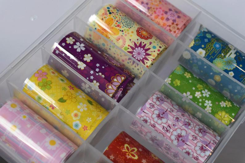 Colorful Flowers Transfer Foil