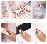 Floral Water nail Decals